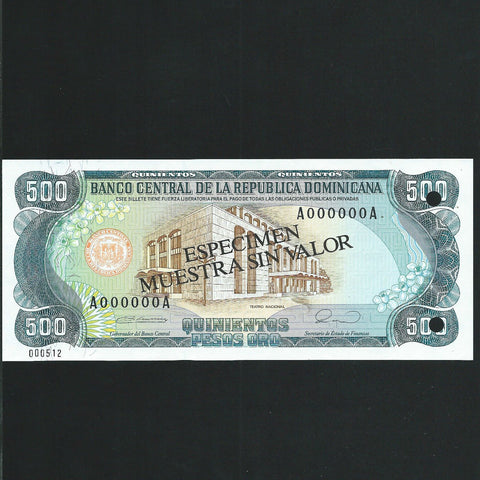 P.134 Dominican Republic 20 Peso specimen (1990) Harrisons, UNC