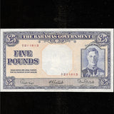 P.12b Bahamas £5 King George VI, A/2 211613. EF - Colin Narbeth & Son Ltd. - 1