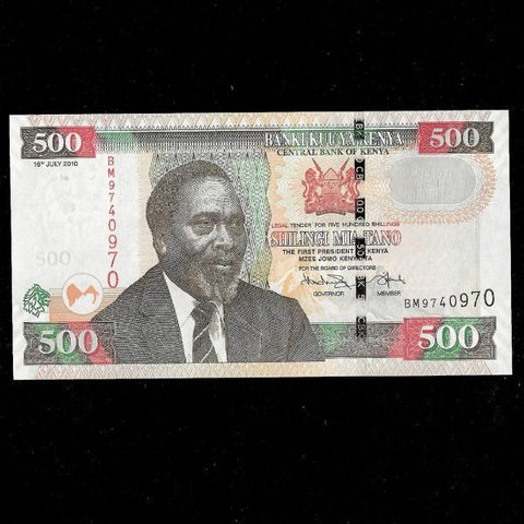 P.50f Kenya 500 Shillingi (2010) UNC - Colin Narbeth & Son Ltd.
