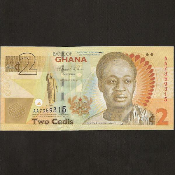P.37A Ghana 2 Cedis commemorative text (2010) UNC - Colin Narbeth & Son Ltd. - 1
