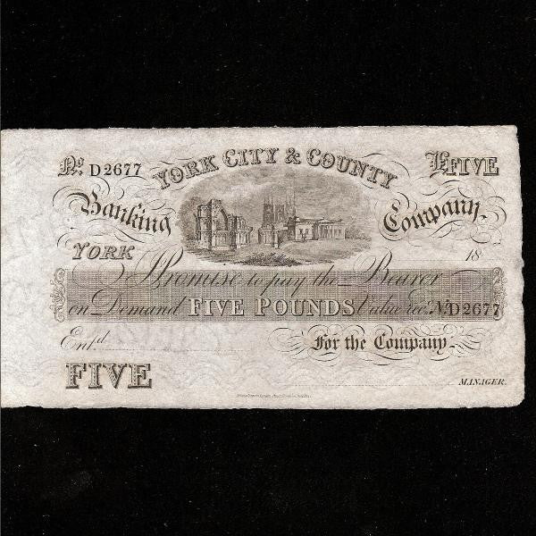 Provincial - York City & County (18xx) unissued. Grant5729A OUTING O2456d. A/UNC - Colin Narbeth & Son Ltd.