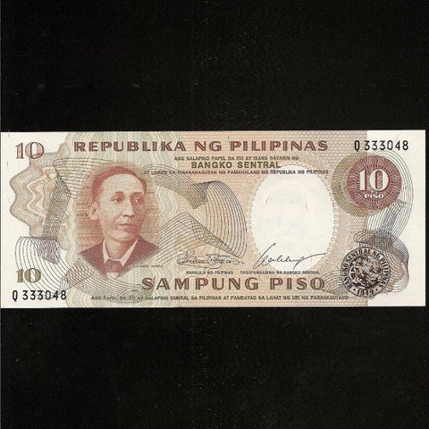 P.144a Philippines 10 Piso, signature 7. UNC - Colin Narbeth & Son Ltd.