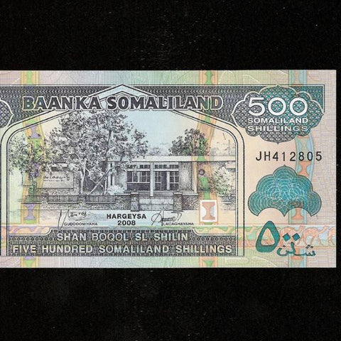 P. 6g Somaliland 500 Shillings (2008) UNC - Colin Narbeth & Son Ltd.
