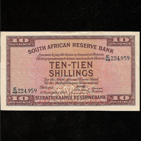 P. 82d South Africa 10/- (1940) Postmus. GDVF - Colin Narbeth & Son Ltd.
