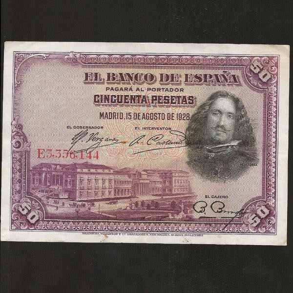 P. 75a Spain 50 Pesetas (1925) VF+ - Colin Narbeth & Son Ltd.