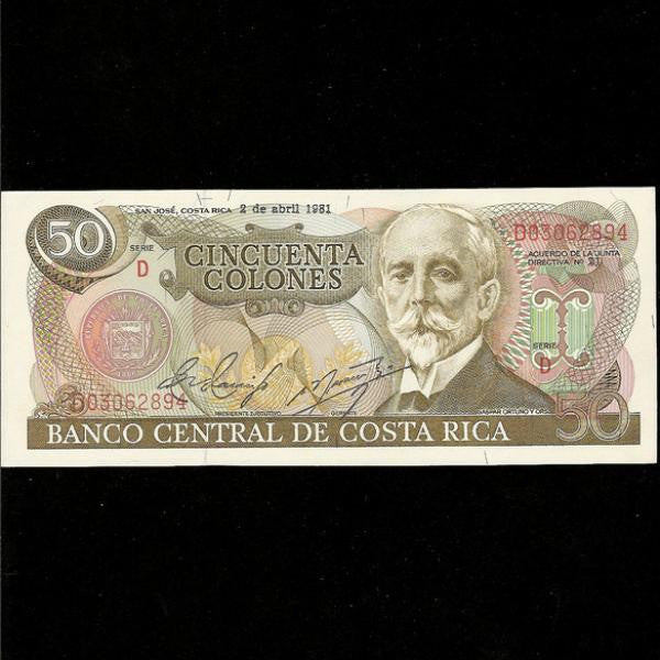 P.251a Costa Rica 50 Colones UNC - Colin Narbeth & Son Ltd. - 1