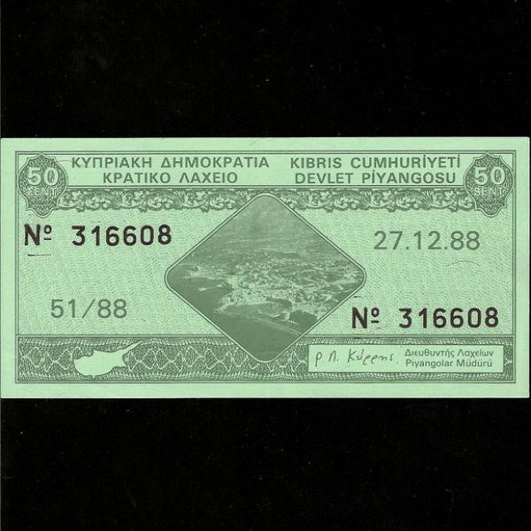 Cyprus Lottery Tickets (1989) - Colin Narbeth & Son Ltd. - 1