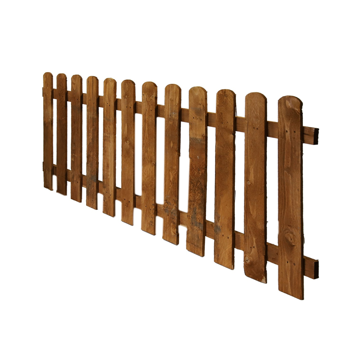 6' x 3' Wicket Fence Panel Round Top