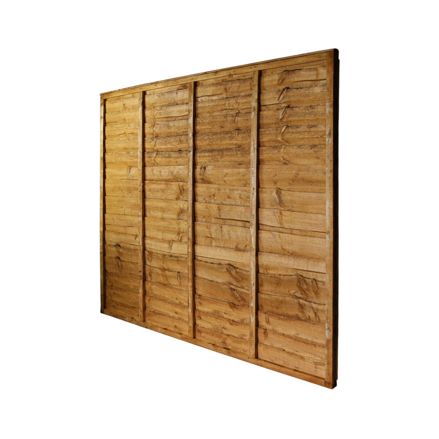 6' x 6' Waney Lap Fence Panel
