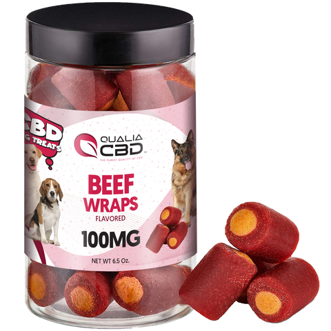 Qualia CBD Beef Wraps Dog Treats