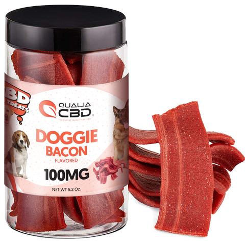 Qualia CBD Doggie Bacon Treats