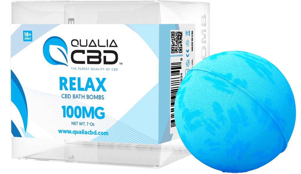 Qualia CBD Hemp Oil Infused Bath Bombs Relax