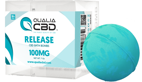 Qualia CBD Hemp Oil Infused Bath Bombs Release