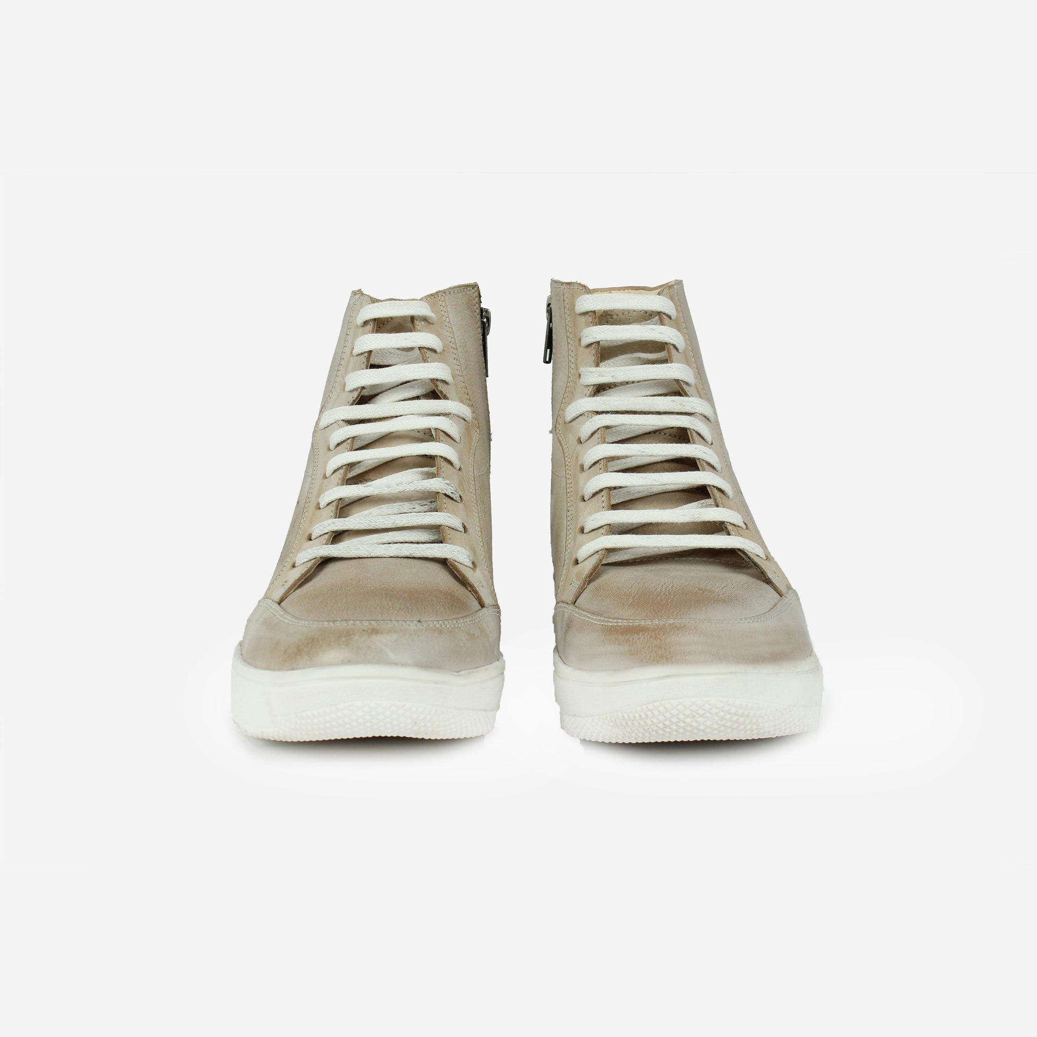 Nash High-Top Sneaker Beige Thebootsco