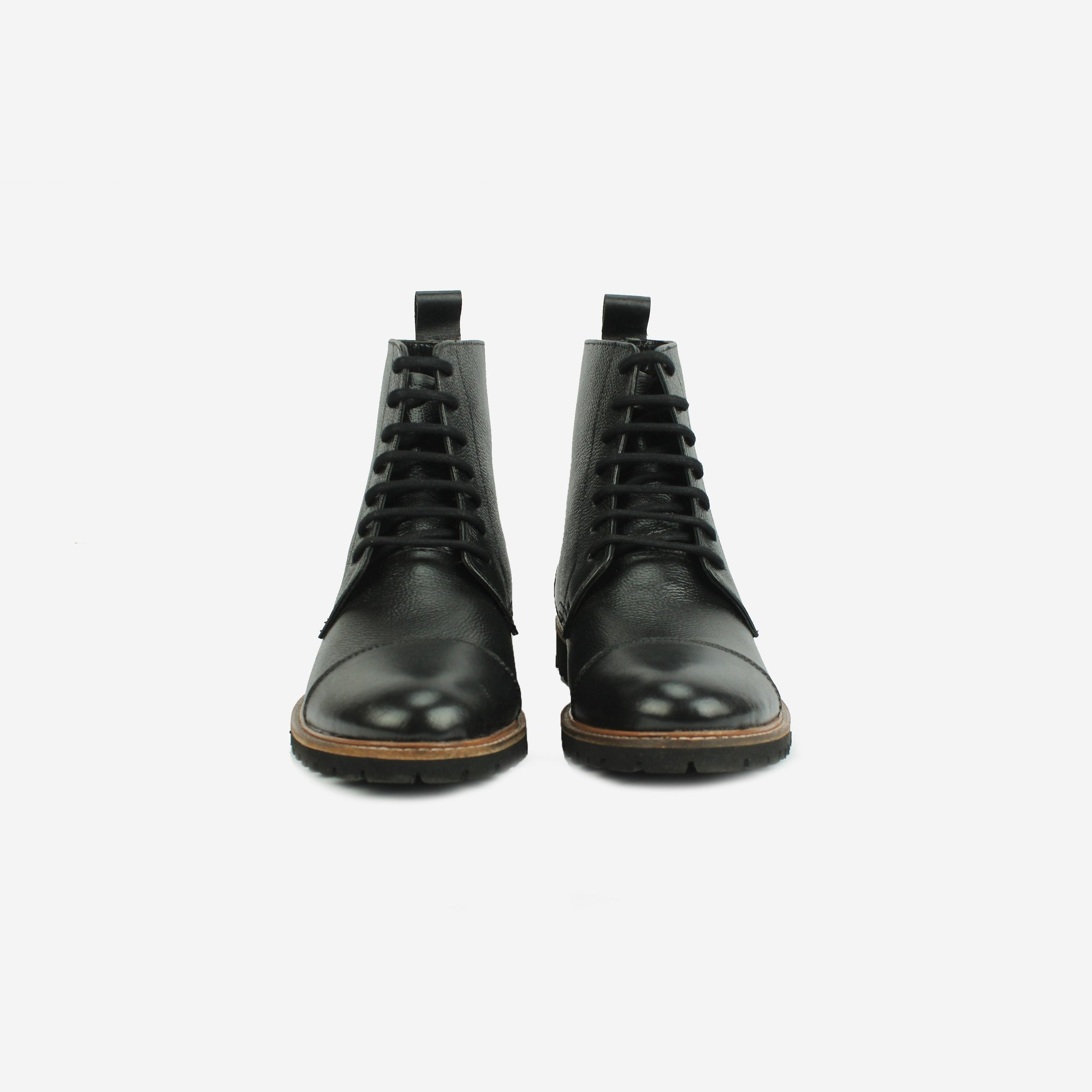 Oberon LaceUp Boot Black Thebootsco