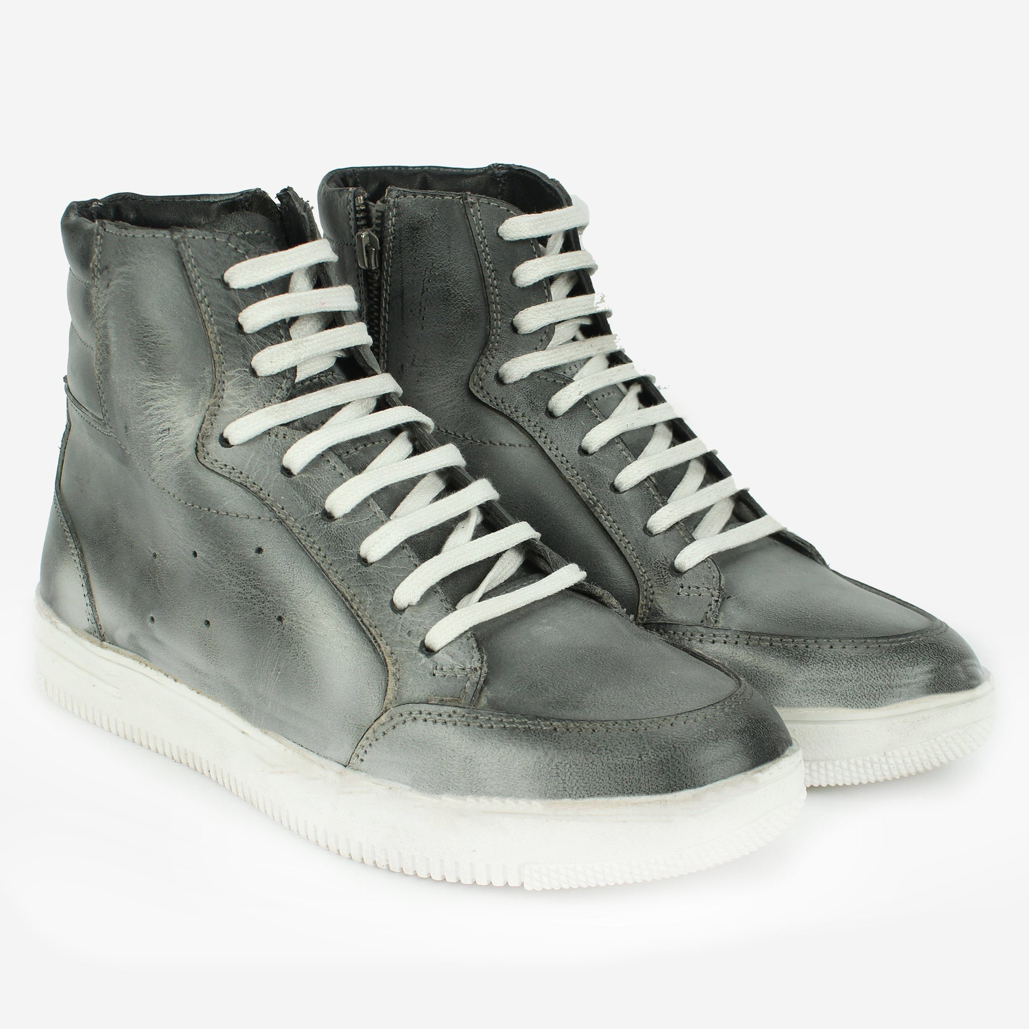 Nash High-Top Sneaker Grey Thebootsco