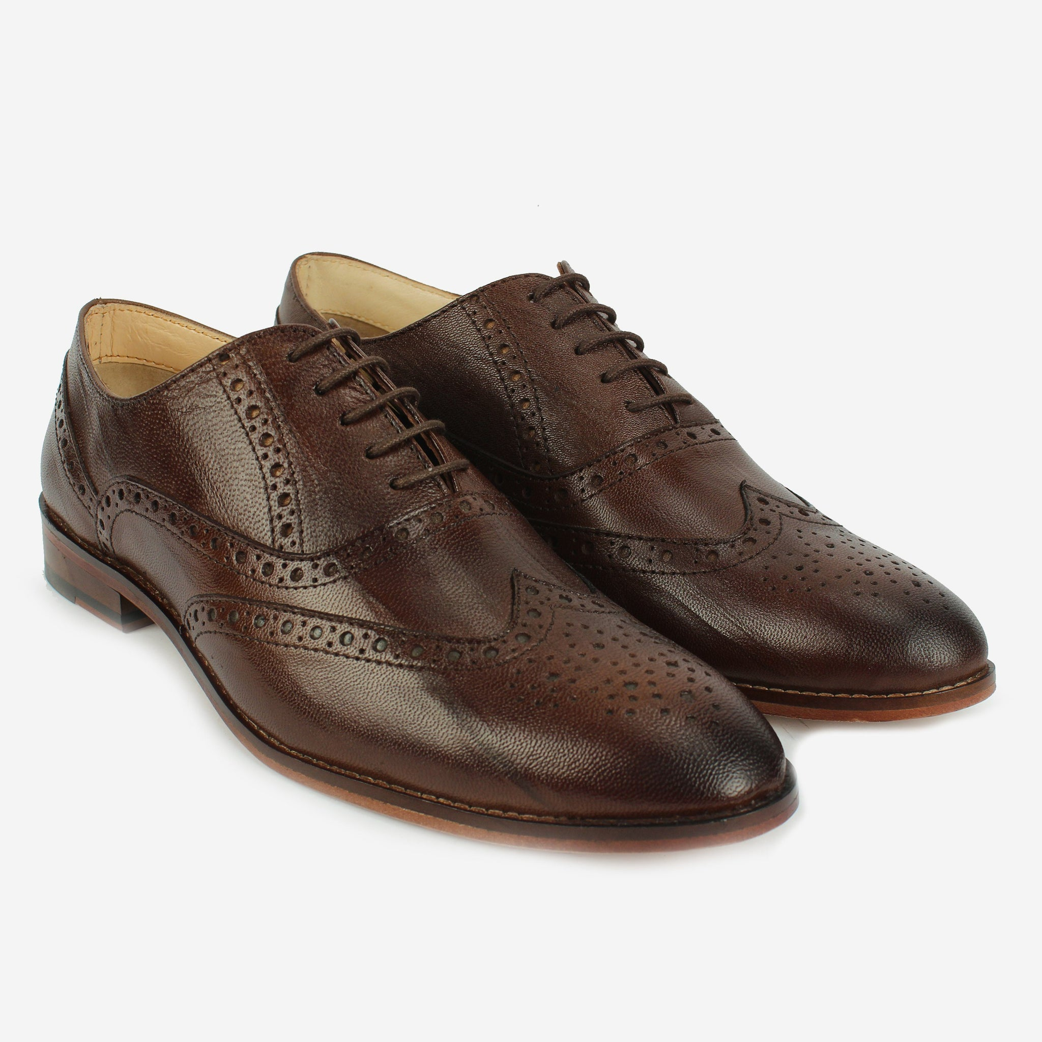 Castor Wingtip Oxford Chocolate Brown Thebootsco
