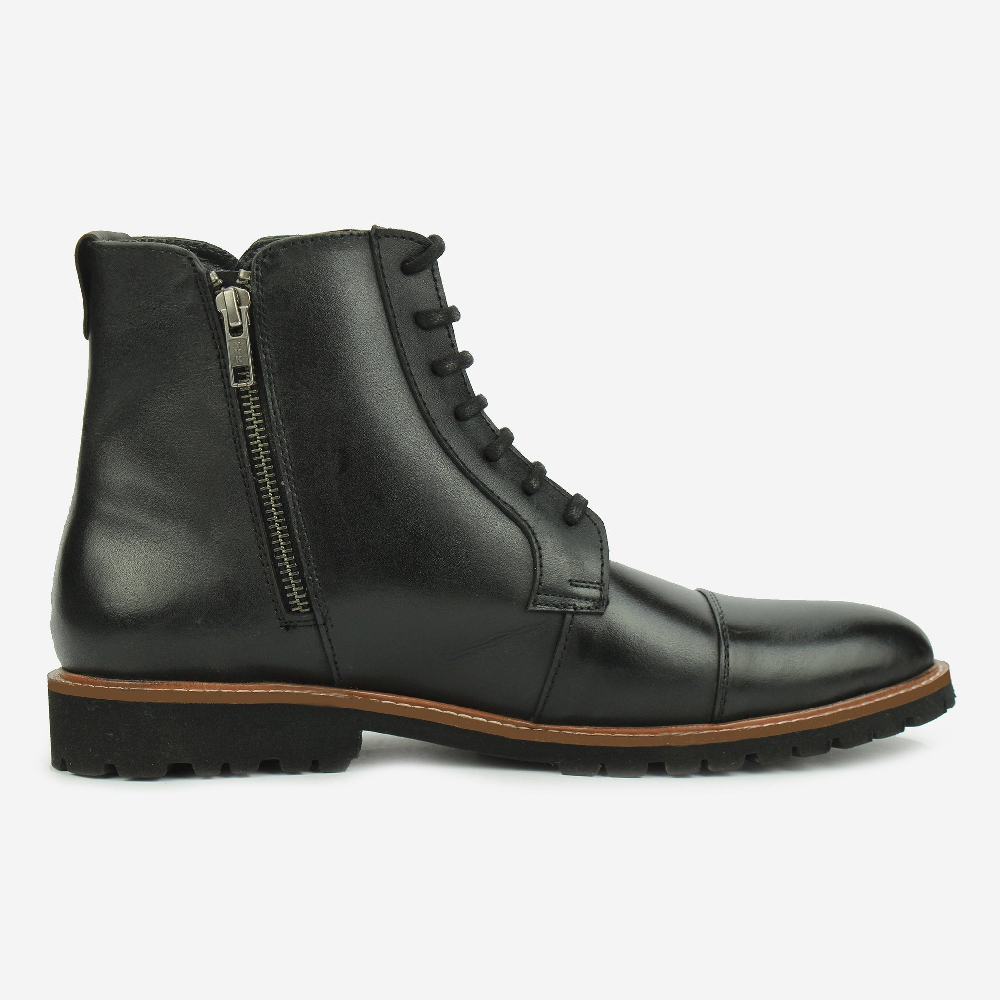 Aerglo LaceUp Boot Black Thebootsco