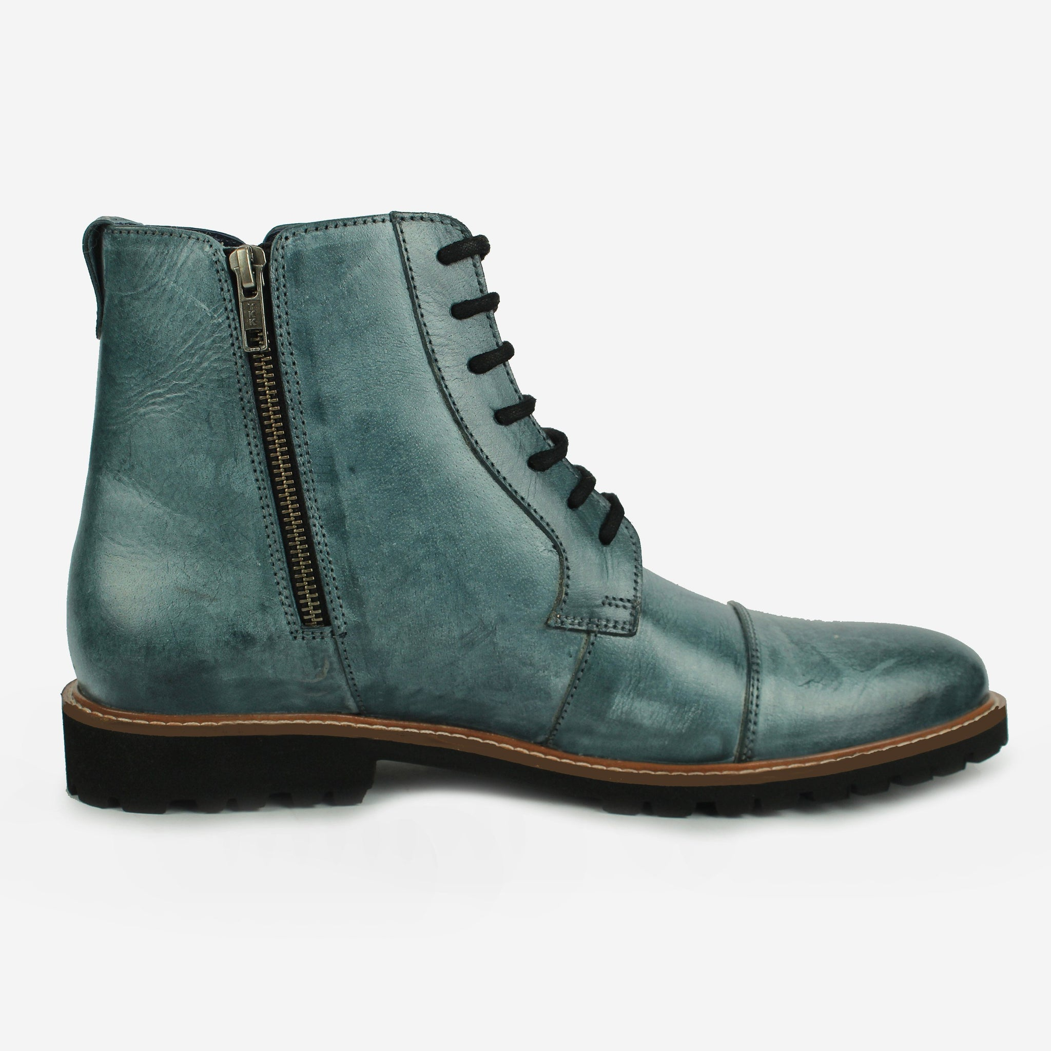 Aerglo LaceUp Boot Blue Thebootsco