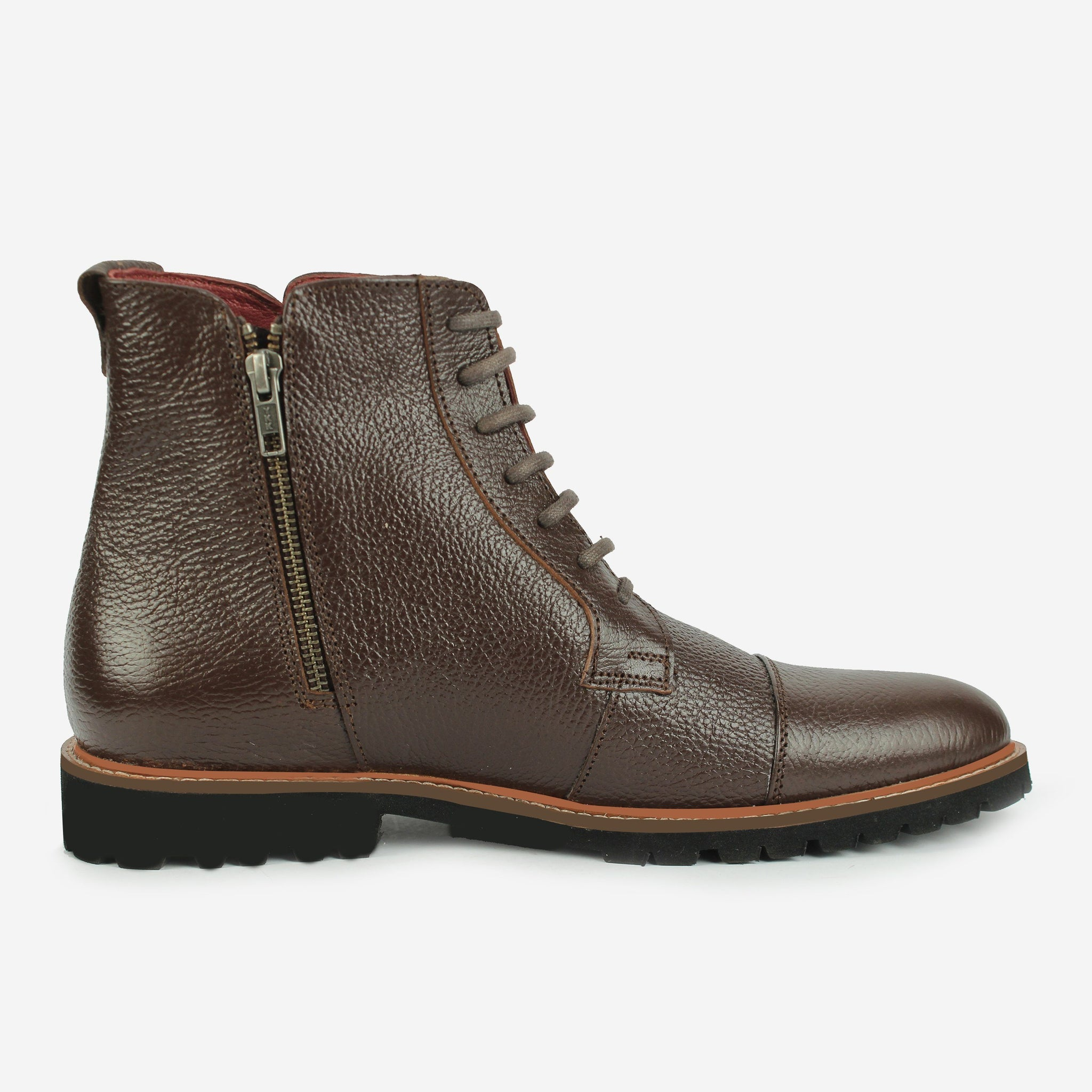 Aerglo LaceUp Boot Brown Thebootsco