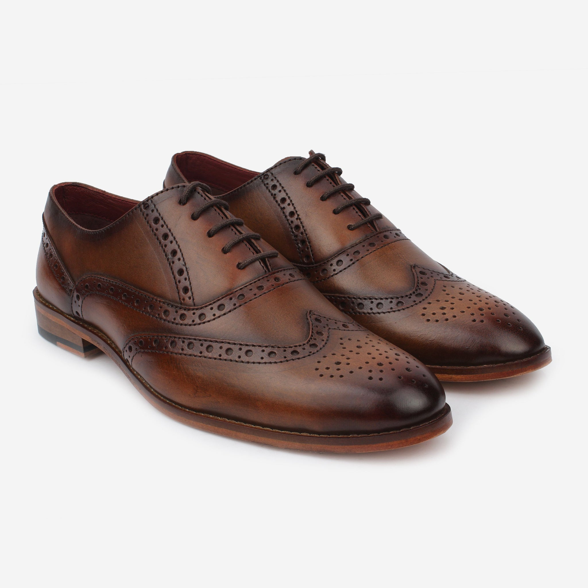 Castor Wingtip Oxford Brown Thebootsco