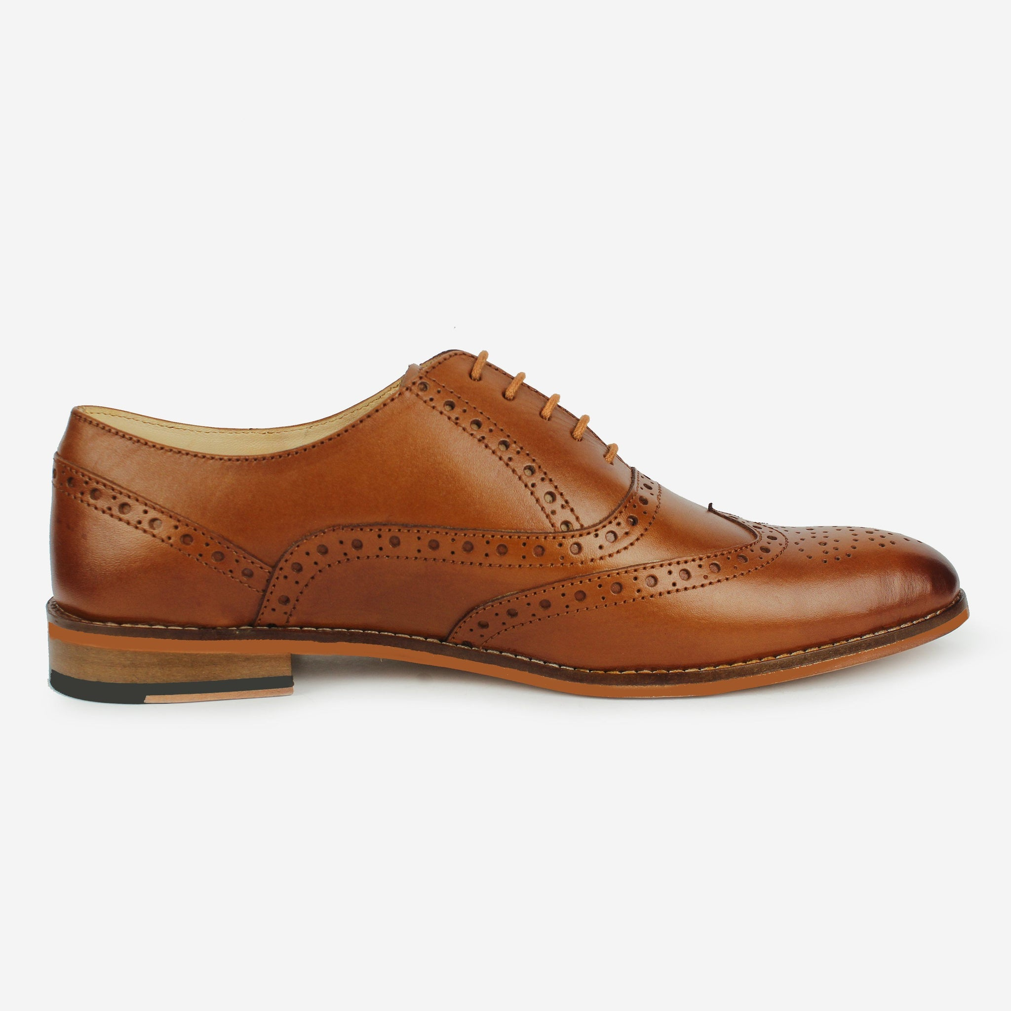 Castor Wingtip Oxford Tan Thebootsco