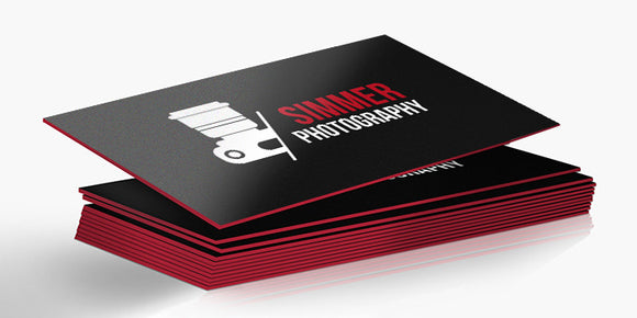 Painted Edge Cards Business Cards
