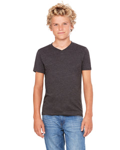 Bella + Canvas Youth Jersey Short-Sleeve V-Neck T-Shirt 3005Y