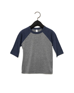 Bella + Canvas Toddler 3/4-Sleeve Baseball T-Shirt 3200T