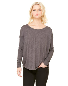 Bella + Canvas Ladies' Flowy Long-Sleeve T-Shirt with 2x1 Sleeves 8852