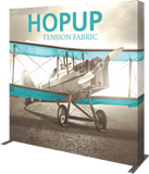 HOPUP FULL FITTED FULL HEIGHT TENSION FABRIC DISPLAY