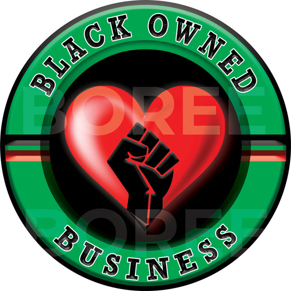 Black Owned Business Window Sticker
