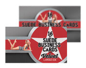 "16PT Suede Business Cards with Soft Velvet Lamination 2"" x 3.5"""