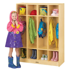 Coat Locker - 4 Sections - Honor Roll Childcare Supply