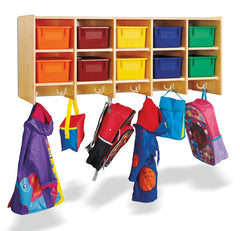 10 Section Wall Mount Coat Locker - Coat Lockers - Honor Roll Childcare Supply