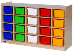 20-Tray Cabinet with Colored Trays - Honor Roll Childcare Supply