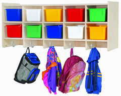 10-Section Double Wall Locker With Clear Trays - Honor Roll Childcare Supply