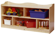 "24""H Heirloom Single Mobile Storage - Honor Roll Childcare Supply"
