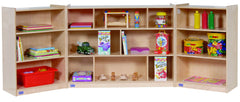 3-Shelf Fold & Lock Folding Storage - Honor Roll Childcare Supply