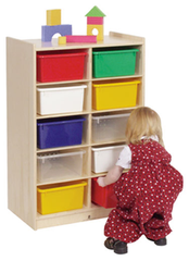 10-Tray Cubby Storage - Honor Roll Childcare Supply
