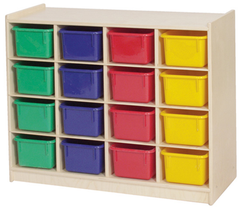 16-Tray Cubby Storage - Honor Roll Childcare Supply