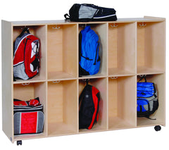 10 Section - Mobile Locker - Honor Roll Childcare Supply
