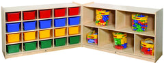 20-Tray Cubby with 5 Section Storage - Honor Roll Childcare Supply