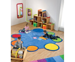 Giant Colorful Palette Of Colors Carpet - Honor Roll Childcare Supply