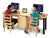 Dual Computer Lab Table - Honor Roll Childcare Supply