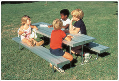 8' Early Years Aluminum Picnic/Work Table - Honor Roll Childcare Supply