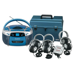 6 Station Deluxe USB, MP3, CD, Cassette Listening Center - Honor Roll Childcare Supply
