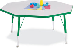 "Jonti-Craft RAINBOW ACCENTS® OCTAGON - 48"" dia. KYDZ Activity Table - Honor Roll Childcare Supply"