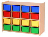 Sixteen Tray Storage w/Multi-Color Trays - Honor Roll Childcare Supply