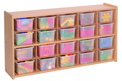 20 Tray Storage Cabinet with Multi-Color Trays - Honor Roll Childcare Supply
